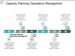 Capacity Planning Operations Management Ppt Powerpoint Presentation Ideas Layout Cpb