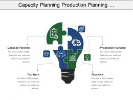 Capacity Planning Production Planning Transportation Planning Transport Management