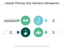 Capacity Planning Tools Operations Management Ppt Powerpoint Presentation Ideas Cpb