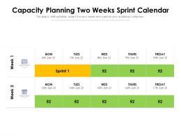 Capacity Planning Two Weeks Sprint Calendar