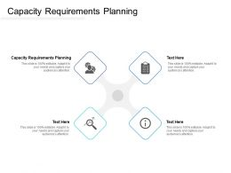 Capacity Requirements Planning Ppt Powerpoint Presentation Portfolio Icons Cpb