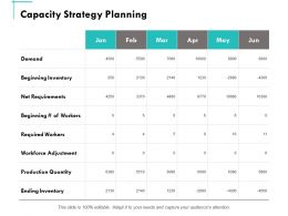 Capacity Strategy Planning Ppt Powerpoint Presentation Summary Portfolio