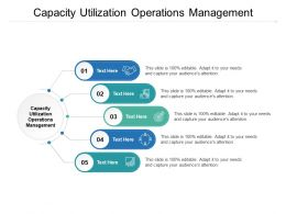 Capacity Utilization Operations Management Ppt Powerpoint Presentation Slides Cpb