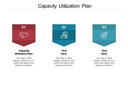 Capacity Utilization Plan Ppt Powerpoint Presentation Gallery Maker Cpb