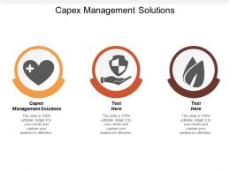 Capex Management Solutions Ppt Powerpoint Presentation Pictures Elements Cpb