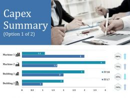 Capex Summary Ppt Outline