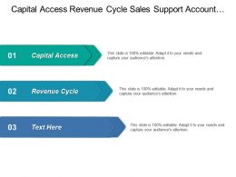 Capital Access Revenue Cycle Sales Support Account Management