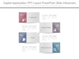 Capital Appreciation Ppt Layout Powerpoint Slide Influencers