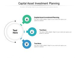 Capital Asset Investment Planning Ppt Powerpoint Presentation Inspiration Show Cpb