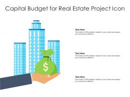 Capital Budget For Real Estate Project Icon