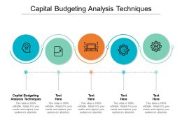 Capital Budgeting Analysis Techniques Ppt Powerpoint Presentation Outline Show Cpb