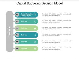 Capital Budgeting Decision Model Ppt Powerpoint Presentation File Slide Cpb