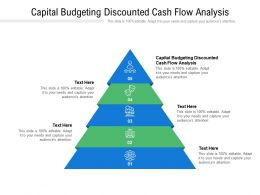 Capital Budgeting Discounted Cash Flow Analysis Ppt Powerpoint Presentation Inspiration Slide Portrait Cpb