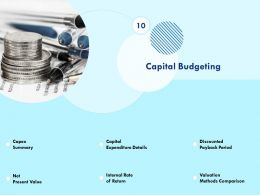 Capital Budgeting Discounted Powerpoint Presentation Shapes