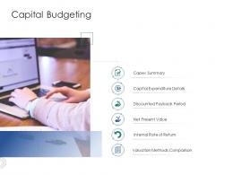 Capital Budgeting Infrastructure Engineering Facility Management Ppt Icons