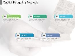 Capital Budgeting Methods Ppt Powerpoint Presentation Portfolio Cpb