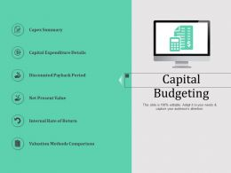 Capital Budgeting N568 Ppt Powerpoint Presentation Format