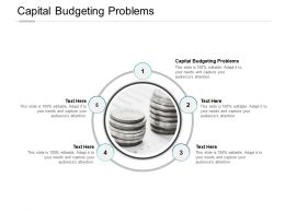 Capital Budgeting Problems Ppt Powerpoint Presentation Gallery Introduction Cpb
