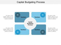Capital Budgeting Process Ppt Powerpoint Presentation Pictures Show Cpb