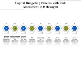 Capital Budgeting Process With Risk Assessment In 9 Hexagon