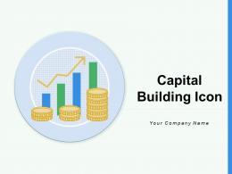 Capital Building Icon Investment Arrow Symbol Financial Calculator