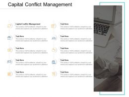 Capital Conflict Management Ppt Powerpoint Presentation Summary Samples Cpb