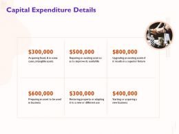 Capital Expenditure Details Intangible Assets Ppt Powerpoint Presentation Model Guide