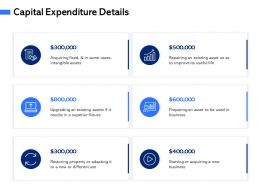 Capital Expenditure Details M3063 Ppt Powerpoint Presentation Slides Examples