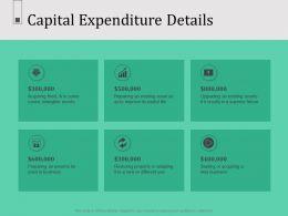 Capital Expenditure Details N569 Powerpoint Presentation Slide Download