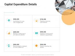 Capital Expenditure Details Optimizing Business Ppt Pictures