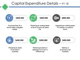 Capital Expenditure Details Ppt Outline
