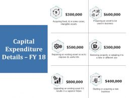 Capital Expenditure Details Ppt Show