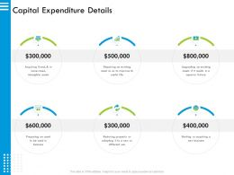 Capital Expenditure Details So As Ppt Powerpoint Presentation Slides