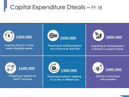 Capital Expenditure Dteails Fy 18 Ppt Styles Structure
