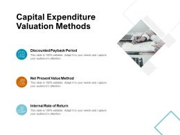Capital Expenditure Valuation Methods Internal Rate Ppt Powerpoint Presentation