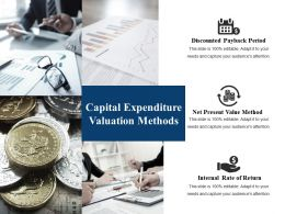 Capital Expenditure Valuation Methods Ppt Gallery