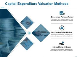 Capital Expenditure Valuation Methods Ppt Show Structure