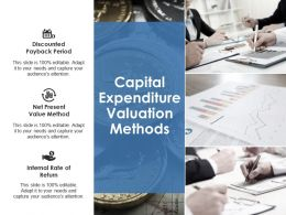 Capital Expenditure Valuation Methods Ppt Styles Smartart