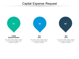 Capital Expense Request Ppt Powerpoint Presentation Infographic Template Demonstration Cpb
