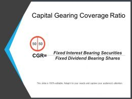 Capital Gearing Coverage Ratio