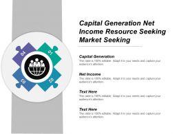 Capital Generation Net Income Resource Seeking Market Seeking