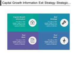 Capital Growth Information Exit Strategy Strategic Sourcing Contracting