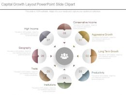 Capital Growth Layout Powerpoint Slide Clipart