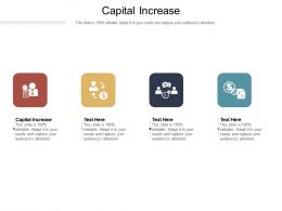 Capital Increase Ppt Powerpoint Presentation File Ideas Cpb