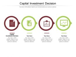 Capital Investment Decision Ppt Powerpoint Presentation Slides Ideas Cpb