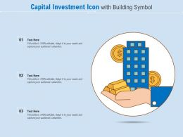 Capital Investment Icon With Building Symbol