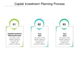 Capital Investment Planning Process Ppt Powerpoint Presentation Outline Good Cpb