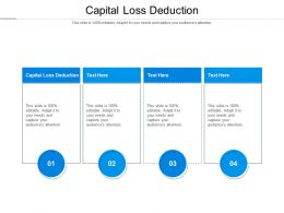 Capital Loss Deduction Ppt Powerpoint Presentation Infographic Template Introduction Cpb