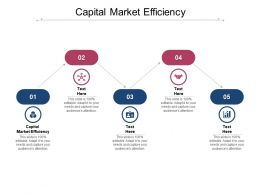Capital Market Efficiency Ppt Powerpoint Presentation Gallery Icons Cpb