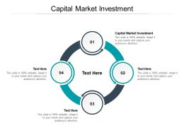 Capital Market Investment Ppt Powerpoint Presentation Infographics Sample Cpb